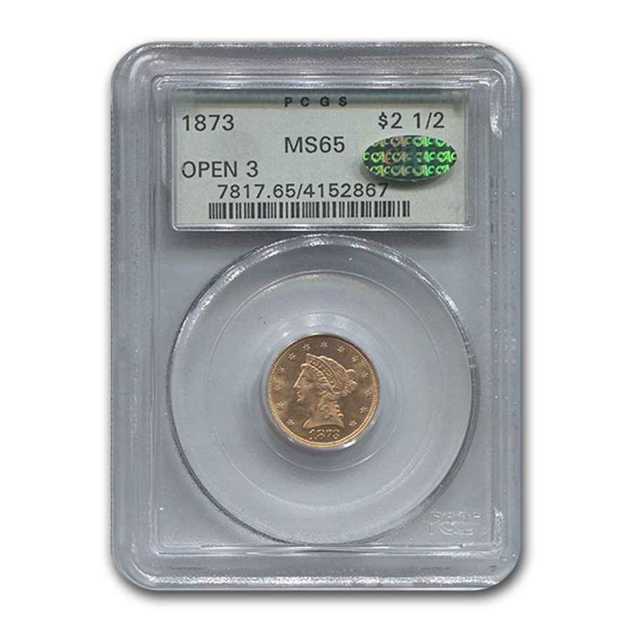 1873 $2.50 Liberty Gold Quarter Eagle MS-65 PCGS (Open 3)