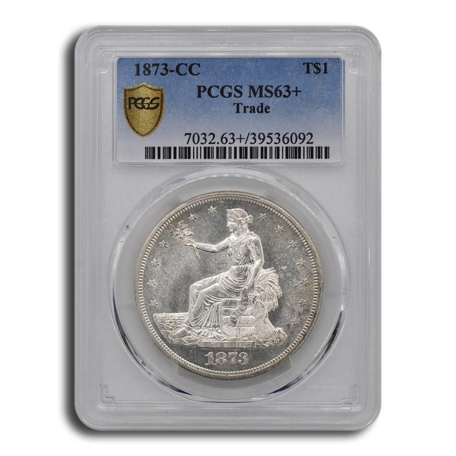 1873-CC Trade Dollar MS-63+ PCGS