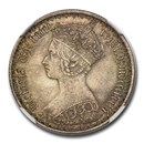 1873 Great Britain Silver Gothic Florin Victoria MS-64 NGC