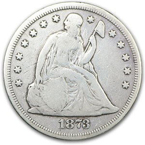 1873 Liberty Seated Dollar VG