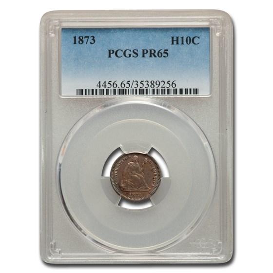1873 Liberty Seated Half Dime PR-65 PCGS