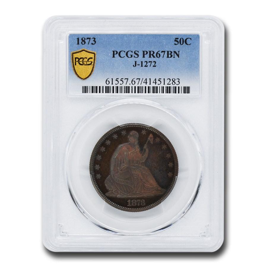1873 Liberty Seated Half Dollar Pattern PR-67 PCGS (BN, J-1272)