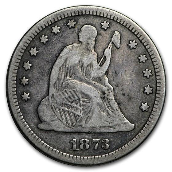 1873 Liberty Seated Quarter Fine (Open 3)