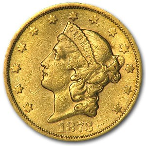 1873-S $20 Liberty Gold Double Eagle Closed 3 XF