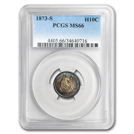 1873-S Liberty Seated Half Dime MS-66 PCGS
