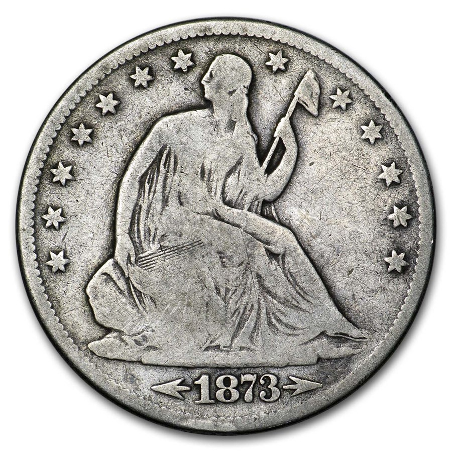 1873-S Liberty Seated Half Dollar VG