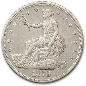 1873-S Trade Dollar AU Details (Cleaned)