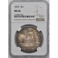 1873 Trade Dollar MS-66 NGC