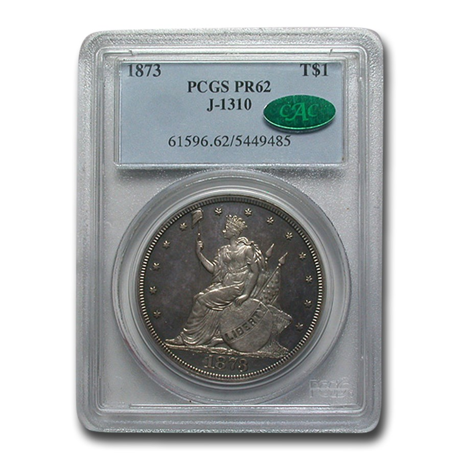 1873 Trade Dollar Pattern PR-62 PCGS CAC