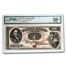 1874 $50 Legal Tender Benjamin Franklin VF-20 PMG