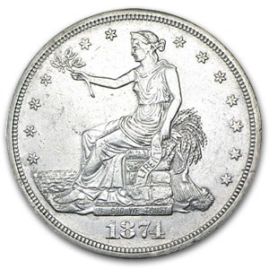 1874-CC Trade Dollar AU Details (Cleaned)
