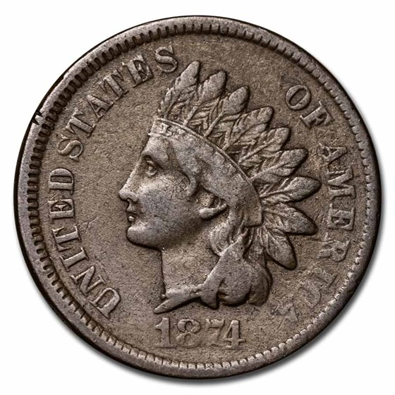 1874 Indian Head Cent Fine