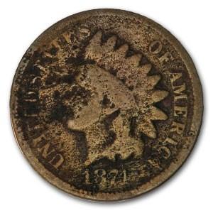 1874 Indian Head Cent Good Details
