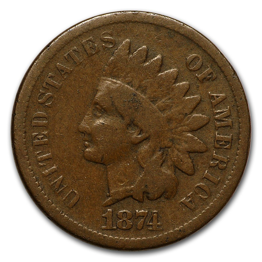 1874 Indian Head Cent VG