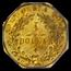 1874 Indian Octagonal Dollar Gold AU-50 PCGS