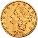 1874-S $20 Liberty Gold Double Eagle AU