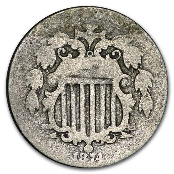 1874 Shield Nickel AG