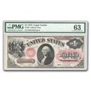 1875 $1.00 Legal Tender George Washington CU-63 PMG