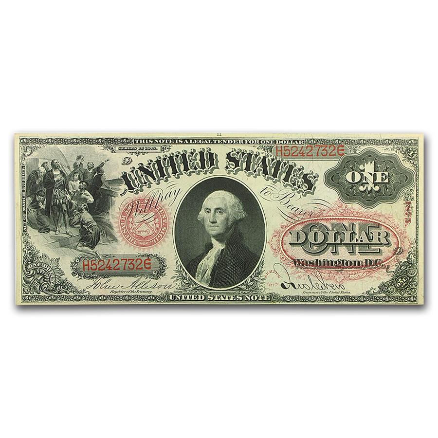 1875 $1.00 Legal Tender George Washington CU