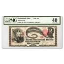 "1875 $2.00 ""Lazy Deuce"" Portsmouth, OH XF-40 PMG (CH#68)"