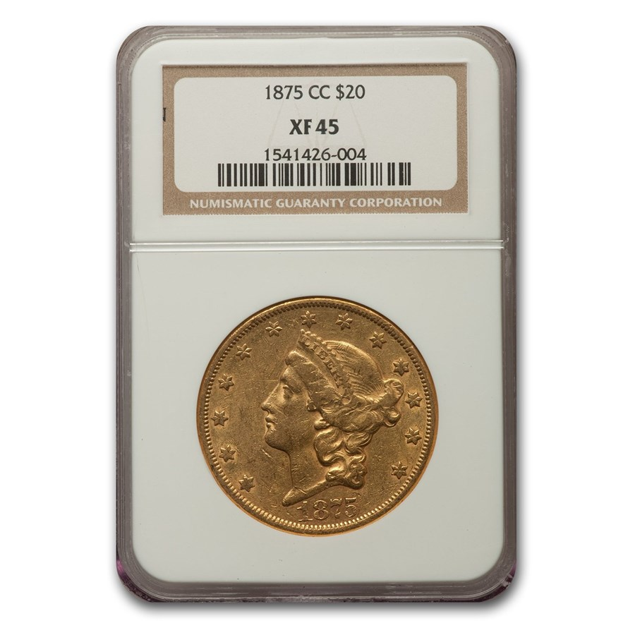 1875-CC $20 Liberty Gold Double Eagle XF-45 NGC