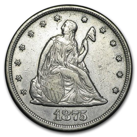 1875-CC Twenty Cent Piece XF