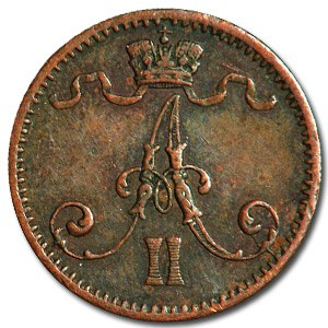 1875 Finland 1 Pennia XF