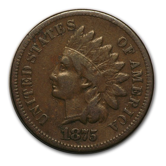 1875 Indian Head Cent Fine