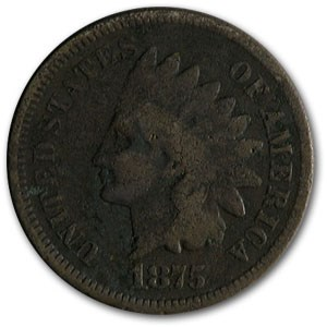 1875 Indian Head Cent Good Details
