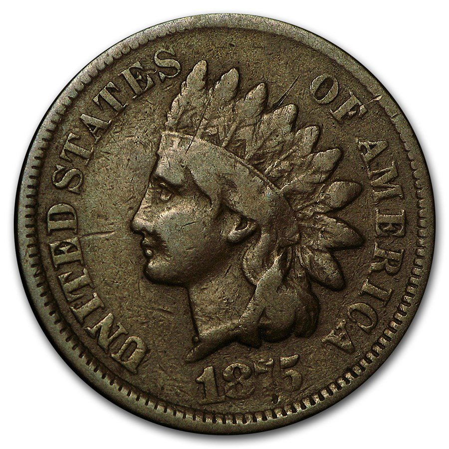 1875 Indian Head Cent VG