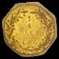1875 Indian Octagonal 25¢ Gold MS-63 PCGS (BG-797)