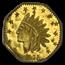 1875 Indian Octagonal 50 Cent Gold MS-63 NGC (PL, BG-934)
