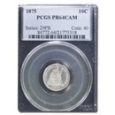 1875 Liberty Seated Dime PR-64 Cameo PCGS