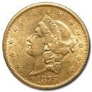 1875-S $20 Liberty Gold Double Eagle AU