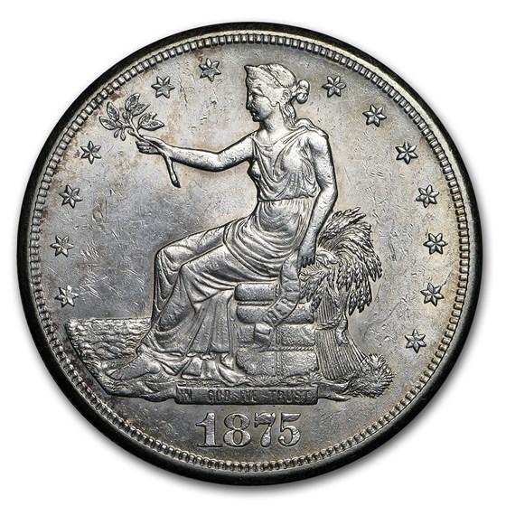 1875-S Trade Dollar AU