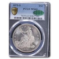 1875-S Trade Dollar MS-63 PCGS CAC