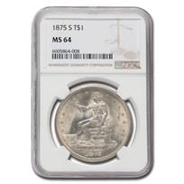 1875-S Trade Dollar MS-64 NGC