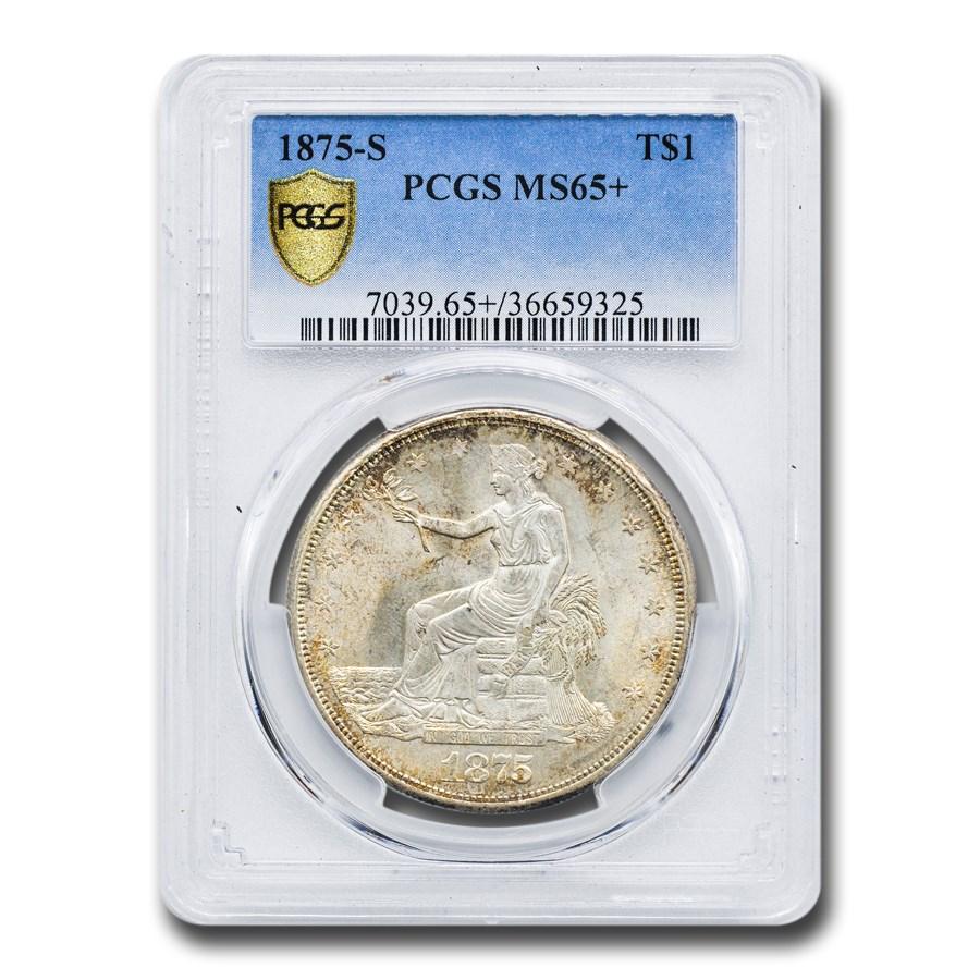 1875-S Trade Dollar MS-65+ PCGS