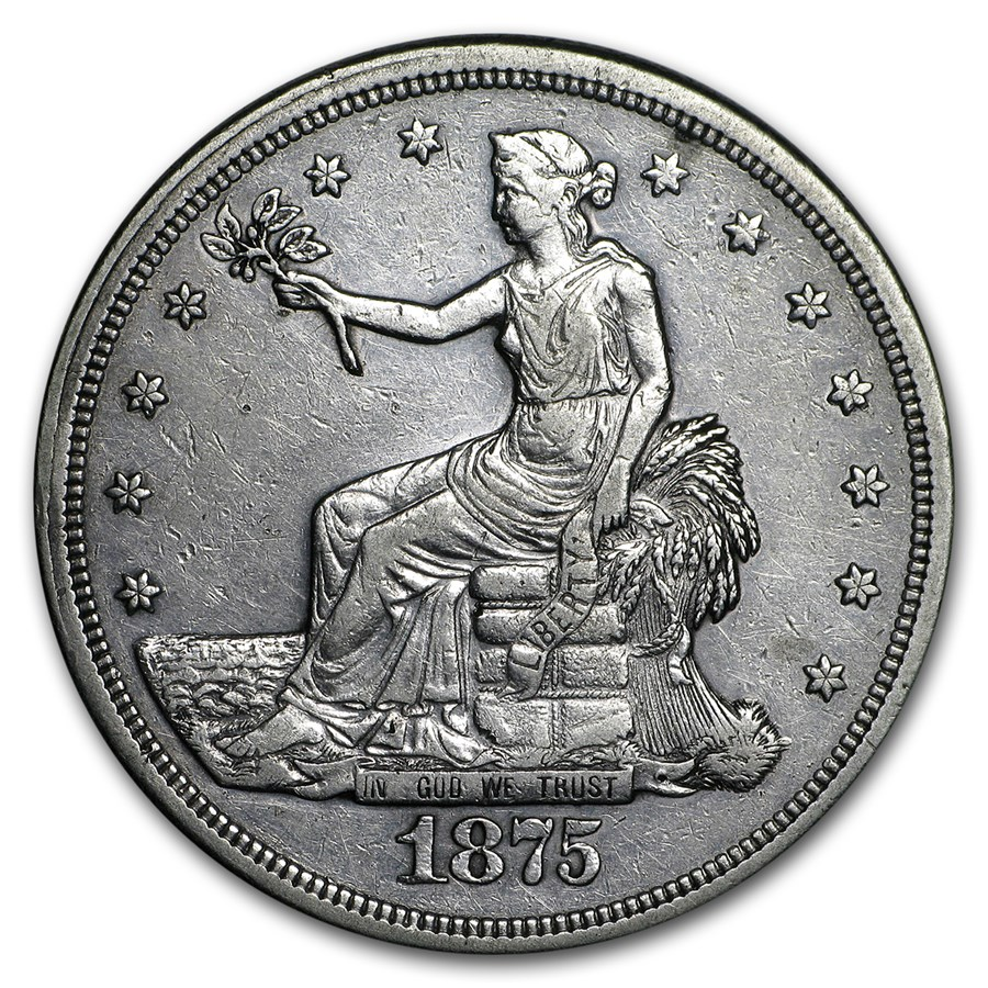 1875-S Trade Dollar VF