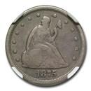 1875-S Twenty Cent Piece Fine-15 NGC