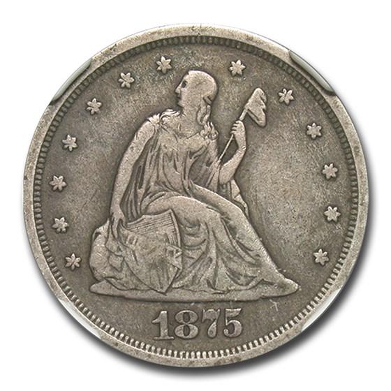 1875-S Twenty Cent Piece VF-30 NGC
