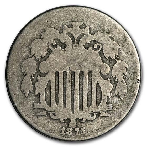 1875 Shield Nickel AG