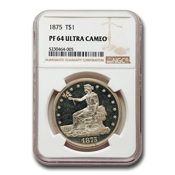 1875 Trade Dollar PF-64 UCAM NGC