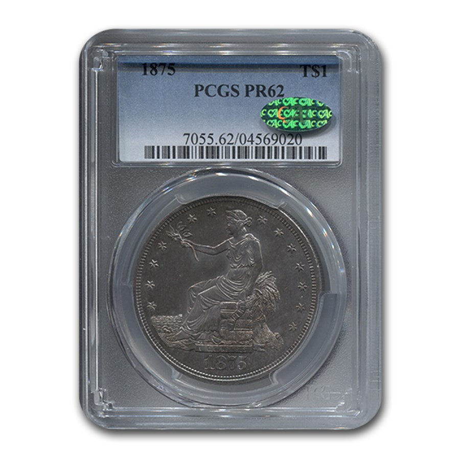 1875 Trade Dollar PR-62 PCGS CAC