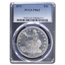 1875 Trade Dollar PR-62 PCGS