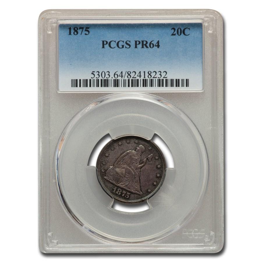 1875 Twenty Cent Piece PR-64 PCGS