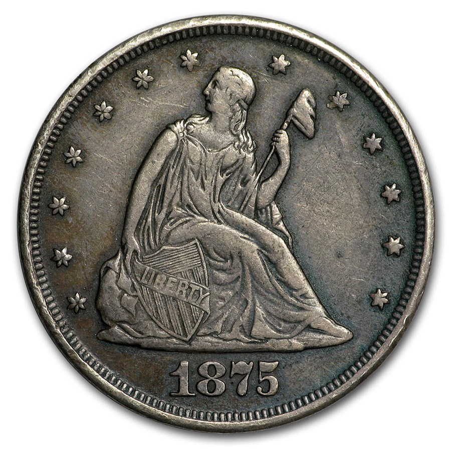 1875 Twenty Cent Piece XF