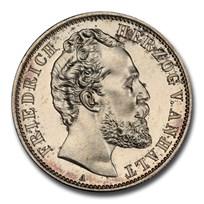 1876-A German States Friedrich I 2 Mark MS-64PL PCGS