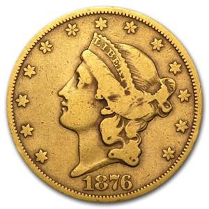 1876-CC $20 Liberty Gold Double Eagle Fine