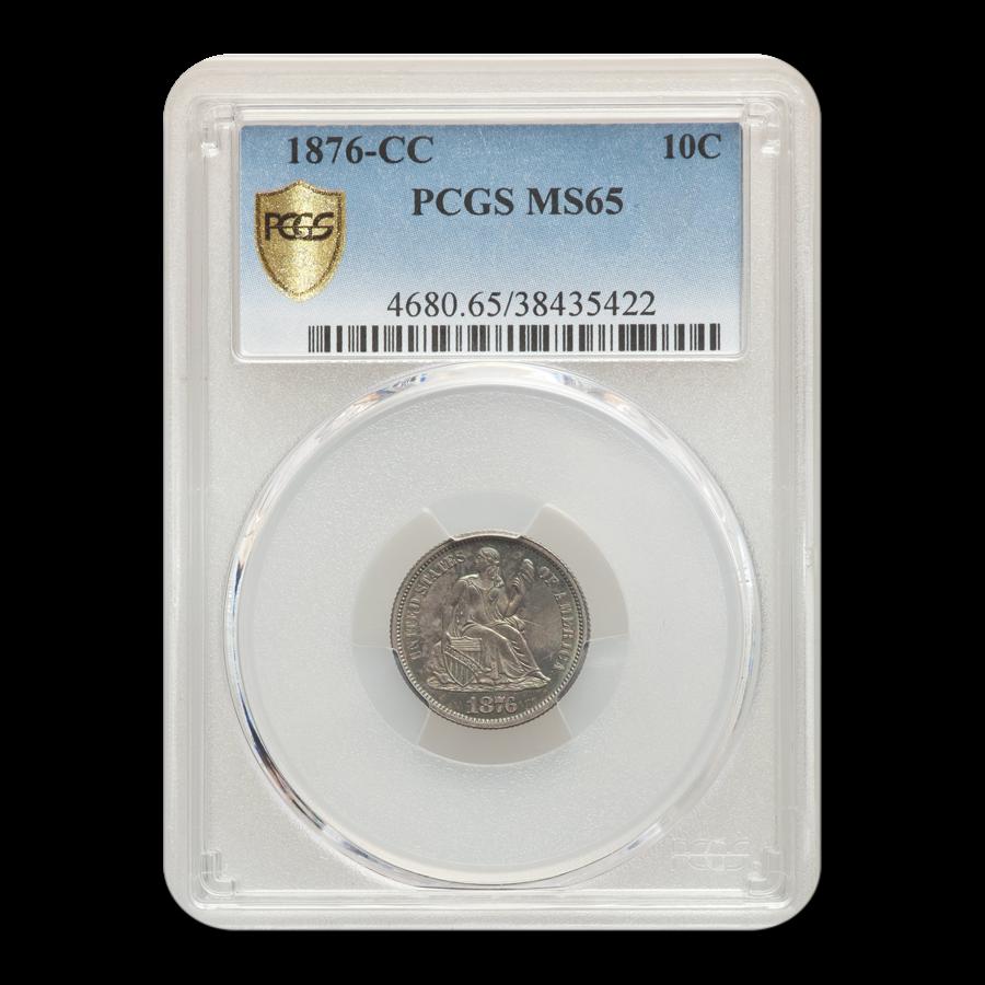 1876-CC Liberty Seated Dime MS-65 PCGS